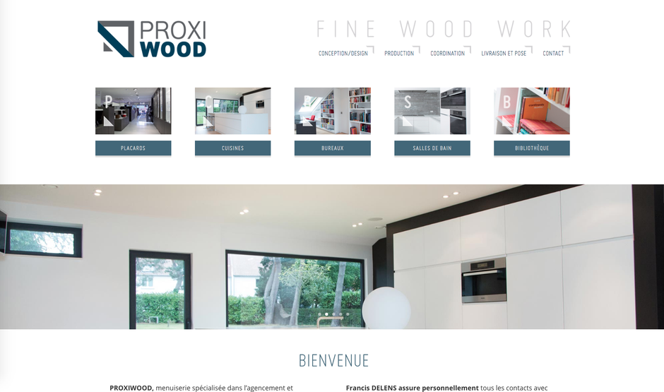 Le site Proxiwood dans Wordpress