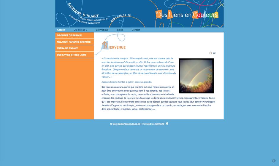 L'ancien site de Sandrine, créé dans Joomla