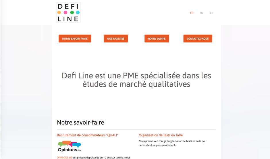 Le nouveau site de Defi Line créé avec Jimdo (design Malaga)