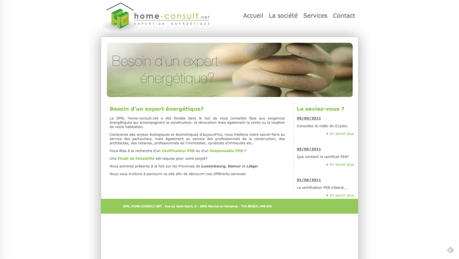 L'ancien site de Home-Consult.net