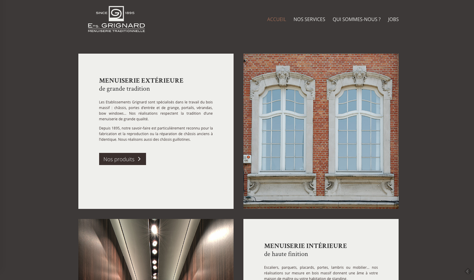 L'ancien site Wordpress