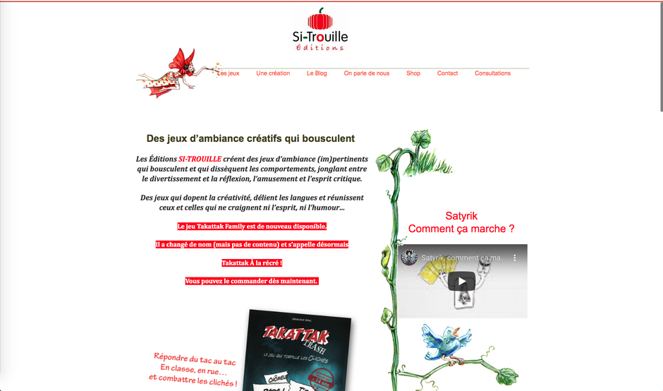 L'ancien site de Si-Trouille (Wordpress)
