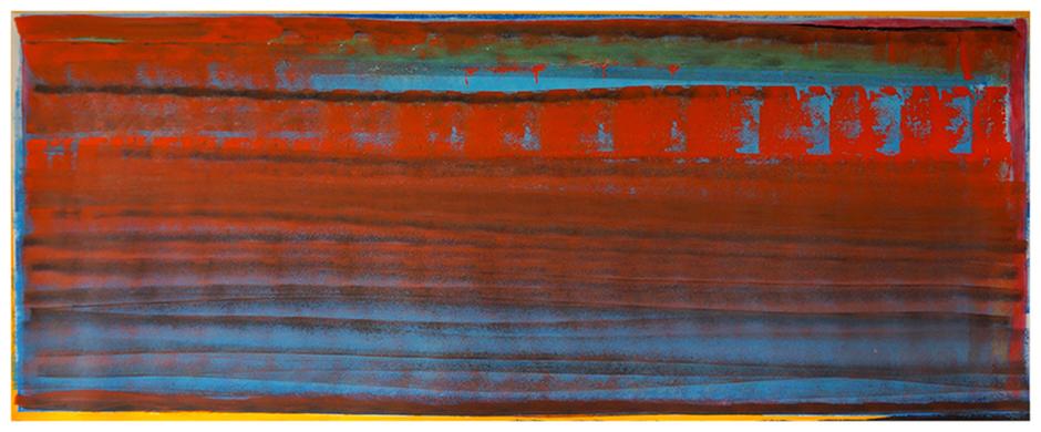 Saint Clair, Das rote Meer - Erinnerung an Saint Malo im August 2014, 107 x 160 cm, CopyrIght by Martin Uebele
