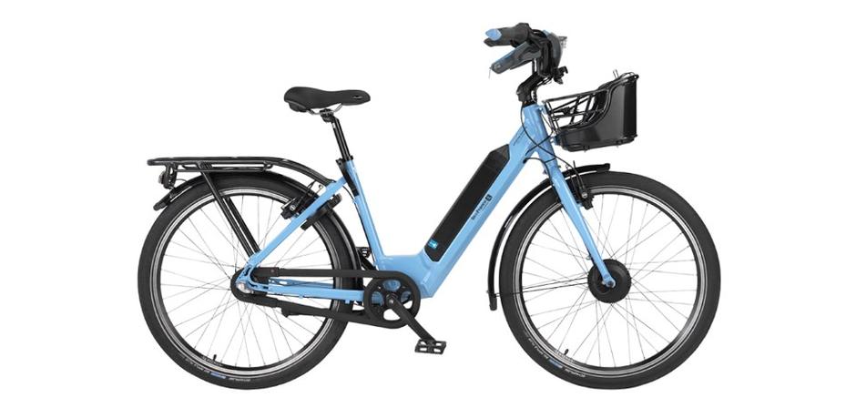 vélo electrique d'occasion bleu