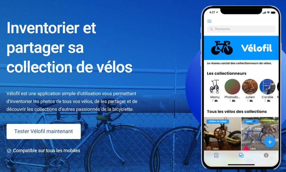 velofil application pour collectionneurs de vélos