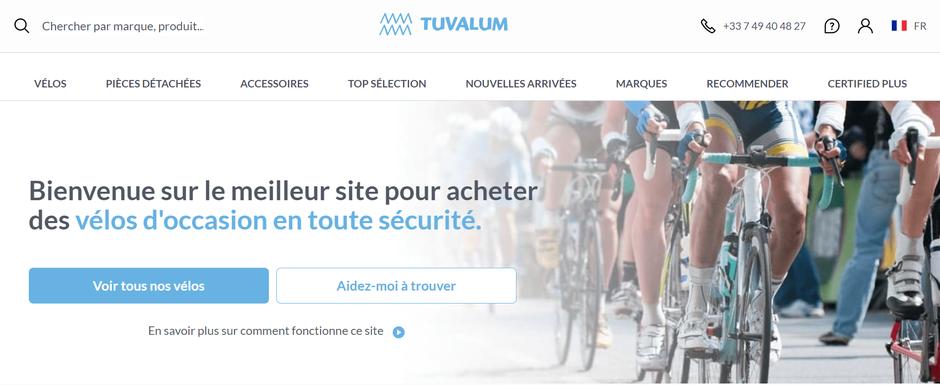 Page d'accueil du site Tuvalum