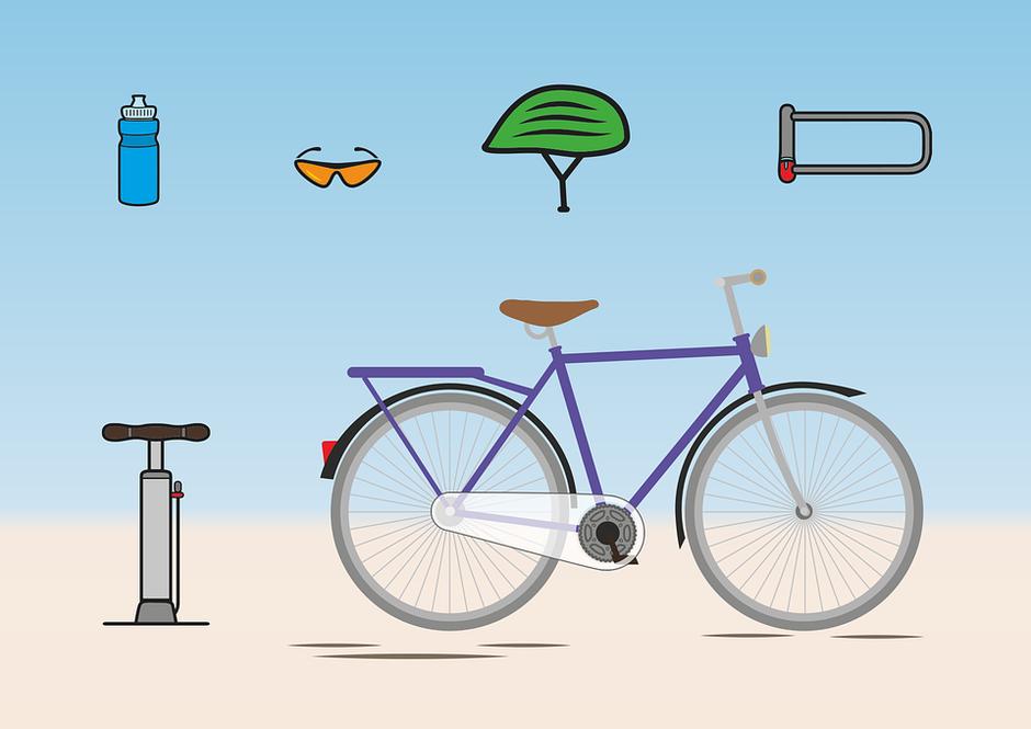 dessin vélo et accessoires