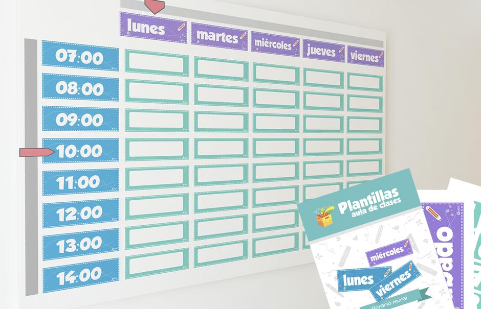 Descarga Gratis el horario mural para profesores revistaaula360