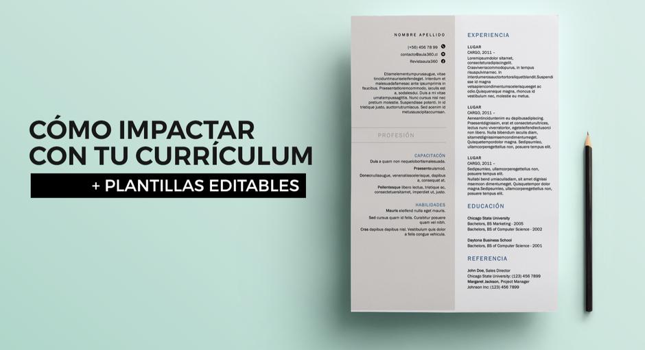 Cómo impactar con tu curriculum profesores