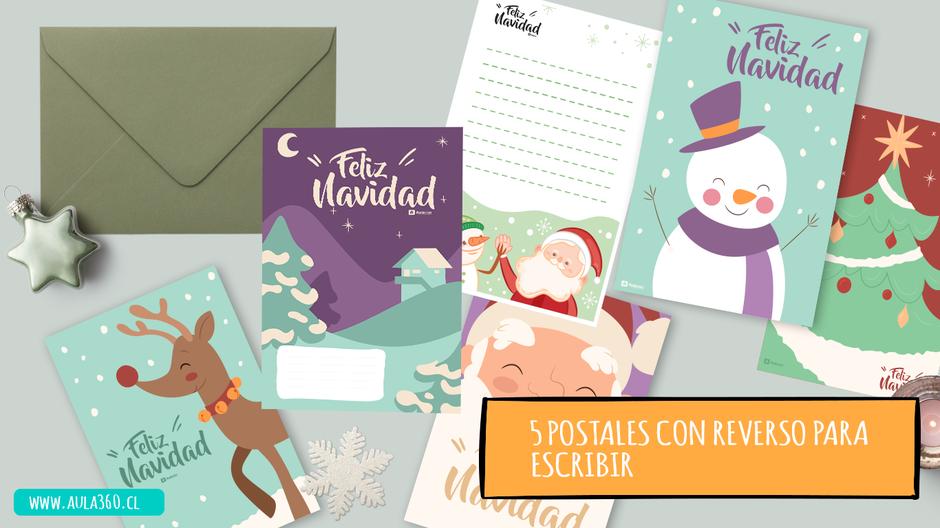 postales y tarjetas navideñas para descargar y usar con tus estudiantes