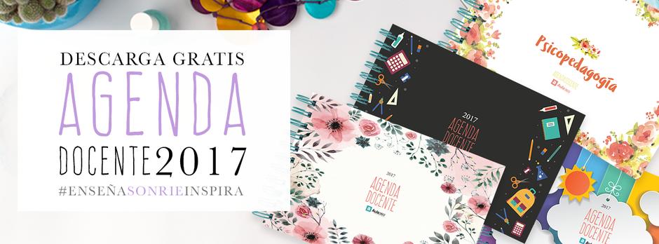 Descarga gratis la agenda docente 2017 para profesores preescolar educadores para imprimir