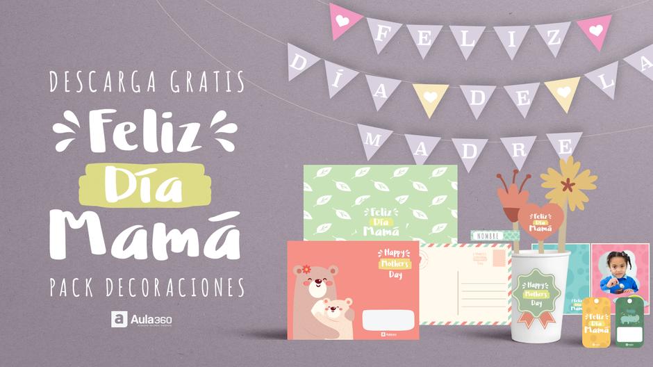 Decoraciones imprimibles dia de la madre en español e inglés diy aula360
