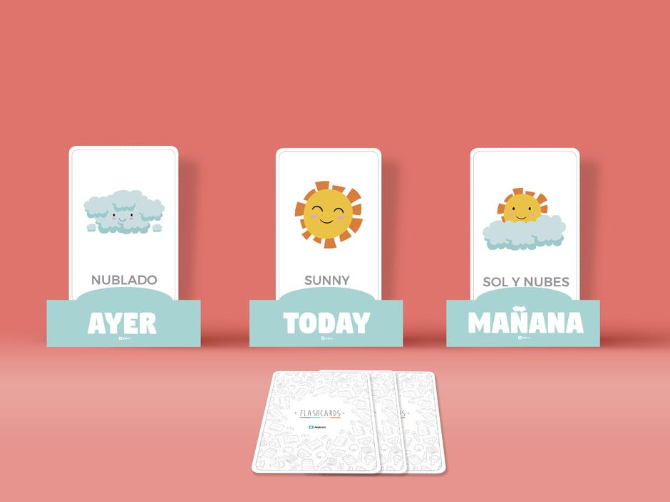 descarga gratis para imprimir tarjetas clima para profesores aula360