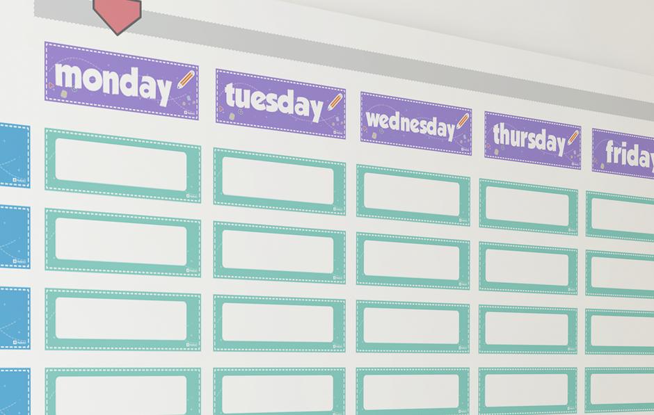 Descarga Gratis el horario mural en ingles para profesores revistaaula360