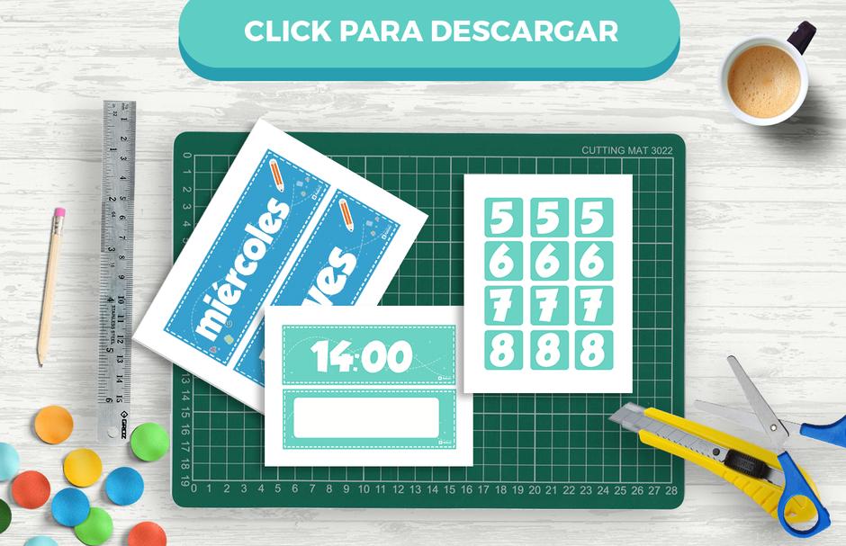Descarga gratis el horario mural en ingles y español para profesores