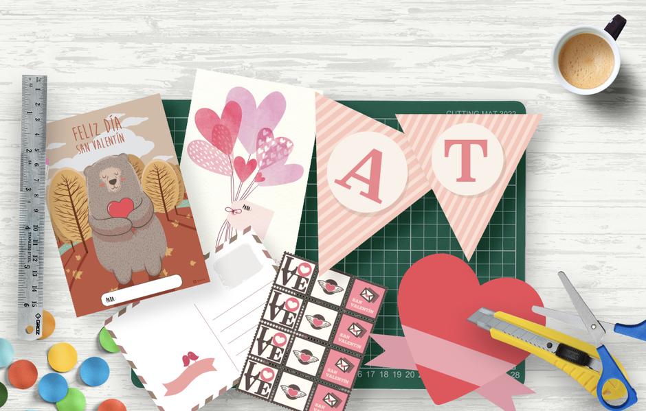 Descarga gratis las postales y decoraciones de San Valentín para profesores sala de clases