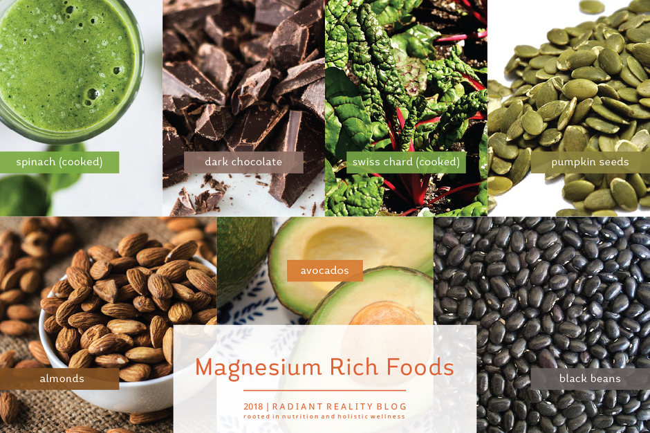 Radiant Reality Blog | 5 Ways to Detox your Brain for Radiant Health | Magnesium Rich Foods