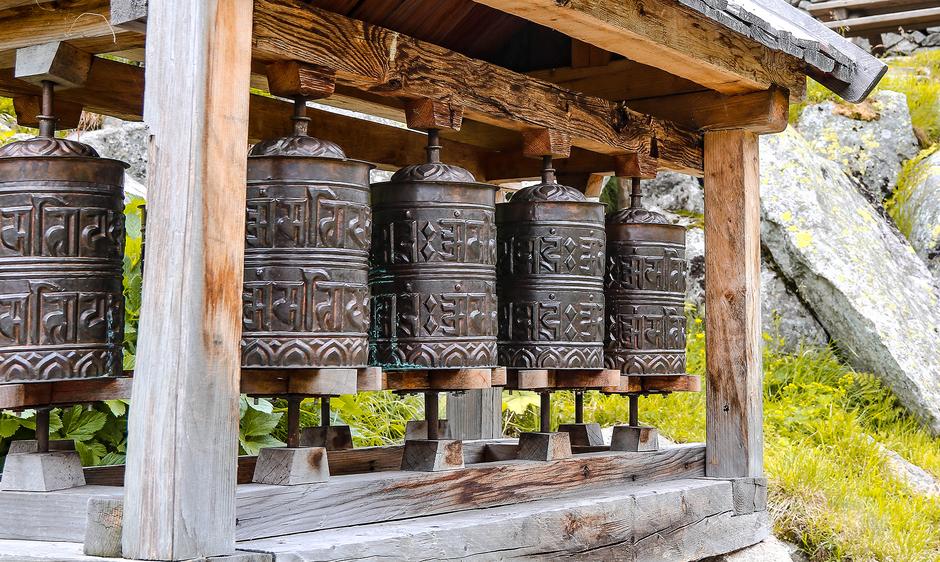 Gebetsmühlen in Klein Tibet