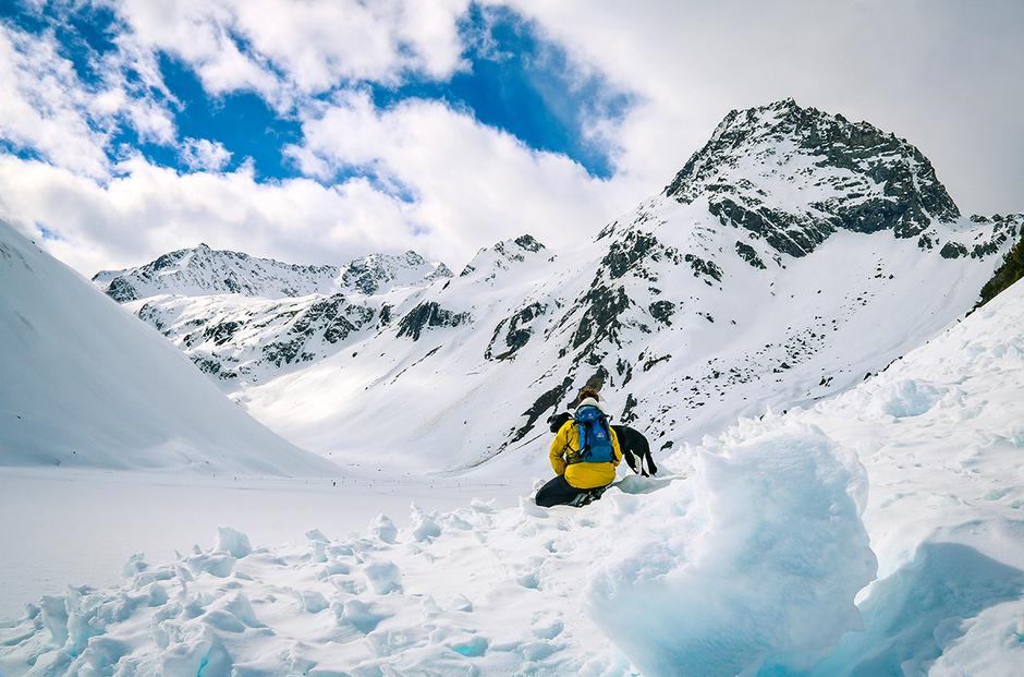 Pitztaler Gletscher Pitztal Winterwandern Wandern mit Hund Wandern in Tirol
