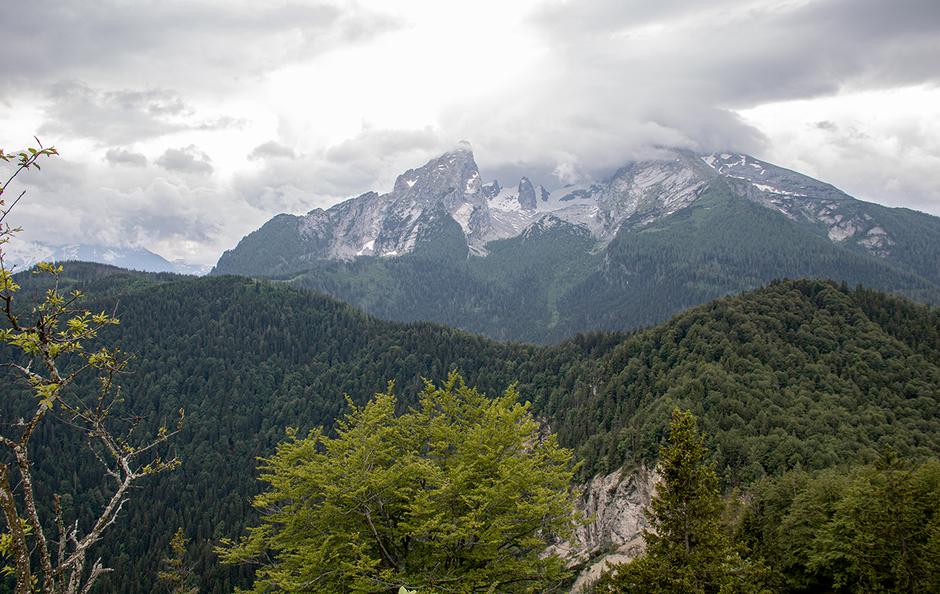 Blick vom Grünsteingipfel auf den Watzmann