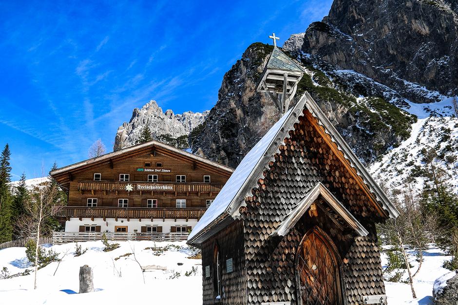 Dreischusterhütte Innerfeldtal Sexten