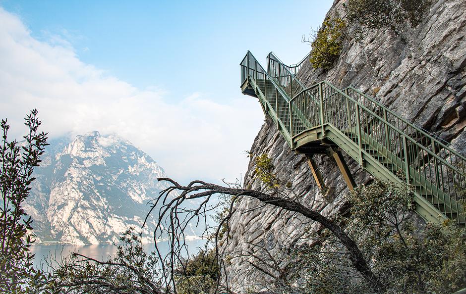 Tempesta Busatte Arco Torbole Wandern am Gardasee Trentino