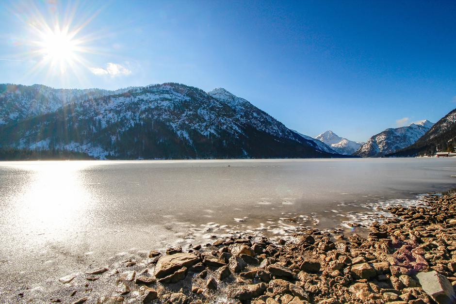 Plansee Tirol Winterwandern Wandern in Tirol Wandern mit Hund Bergurlaub mit Hund
