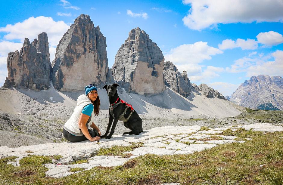 Bergurlaub mit Hund Drei Zinnen Umrundung Wandern in Südtirol Sexten Pustertal Bergurlaub mit Hund Urlaub mit Hund Wandern mit Hund