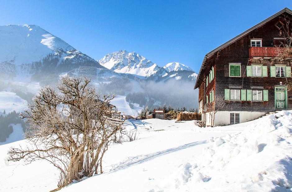 Schönkahler Tirol Wandern mit Hund in Tirol Tannheimer Tal Winterwandern Schneeschuhwandern in Tirol