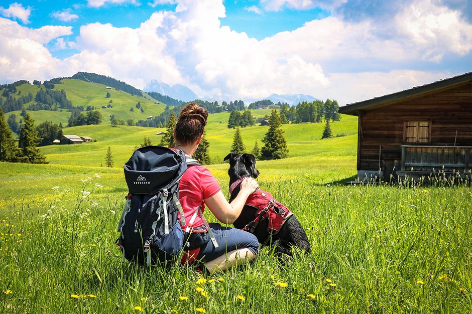 Seiser Alm Wandern mit Hund Bergurlaub mit Hund  Urlaub mit Hund Wandern mit Hund