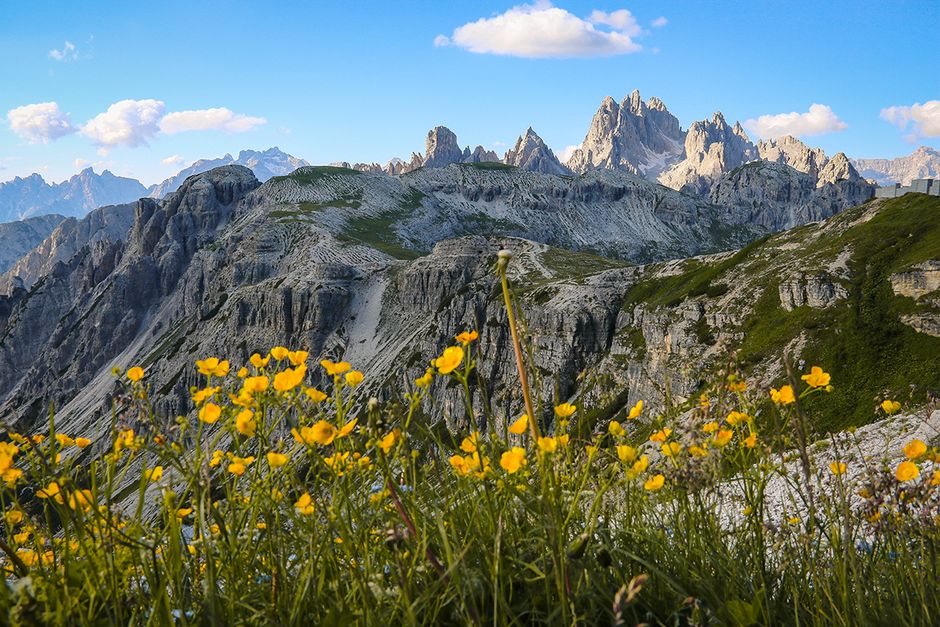 Dolomiten Drei Zinnen Pustertal Umrundung Bergurlaub mit Hund Urlaub mit Hund Wandern mit Hund Sexten