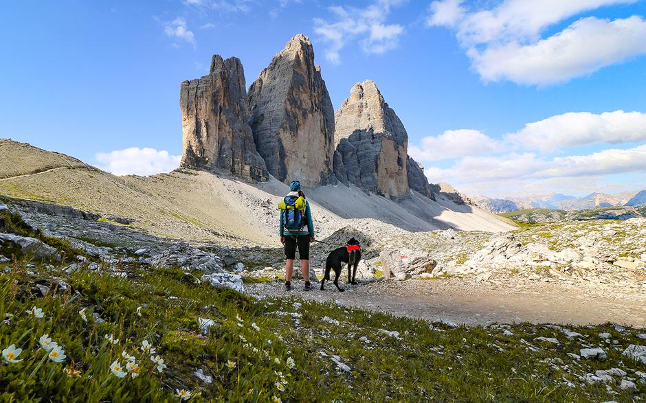 Drei Zinnen Pustertal Sexten Unesco Weltkulturerbe Bergurlaub mit Hund Urlaub mit Hund Wandern mit Hund Sexten