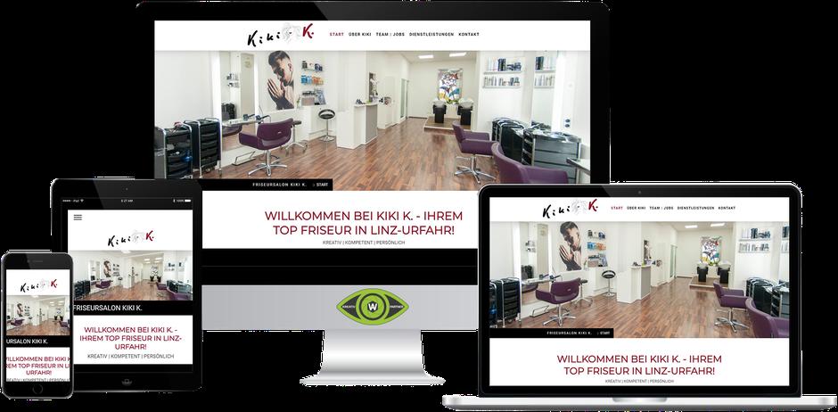 Kreativ-Partner AW (Albert Wiesinger) - Werbeagentur in Eferding (Oberösterreich) - Referenz Friseursalon Kiki K in Linz Urfahr