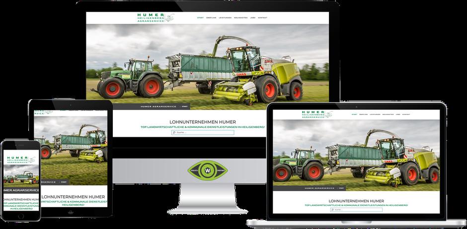 Kreativ-Partner AW (Albert Wiesinger) - Werbeagentur in Eferding (Oberösterreich) - Referenz Humer Heiligenberg Agrarservice