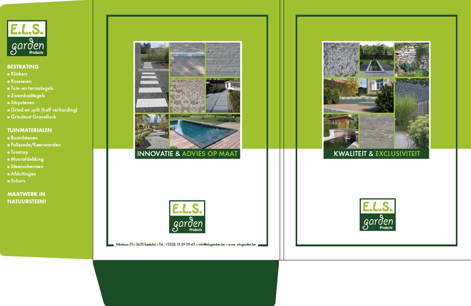 Dirk Van Bun Communicatie & Vormgeving - Grafische vormgeving - Grafisch ontwerp - reclame - publiciteit - Lommel - Offertemap ELS Garden