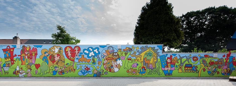 Van Bun Communicatie & Vormgeving - Muurschildering - Huis van de Wereld Lommel