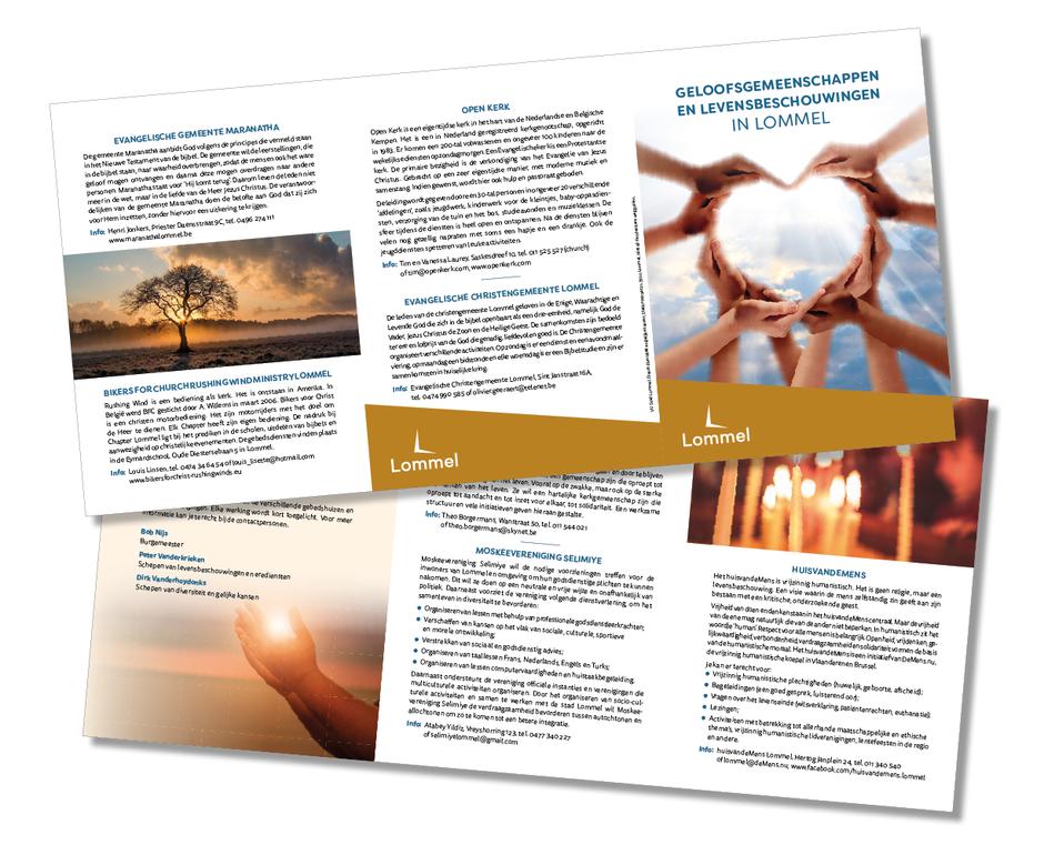 Dirk Van Bun Communicatie & Vormgeving - Infofolder Lommelse geloofsgemeenschappen en levensbeschouwingen - Grafisch ontwerp & Illustratie - Reclame -  - publiciteit