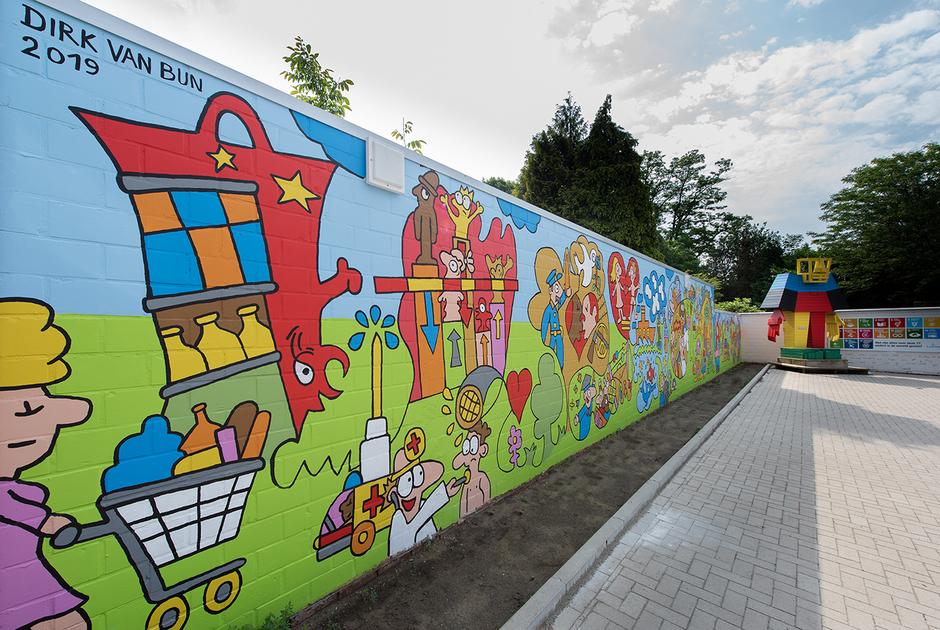 Dirk Van Bun Communicatie & Vormgeving - Illustraties - originele tekening - muurschildering - op maat van uw activiteiten - Lommel - Huis van de Wereld Lommel