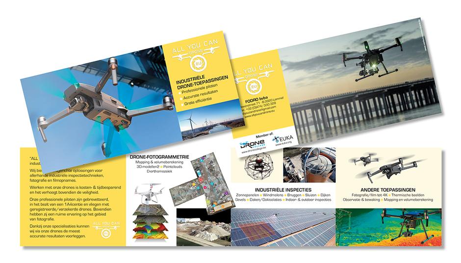 Dirk Van Bun Communicatie & Vormgeving - Lommel - Grafisch ontwerp - Opmaak - reclame - publiciteit - Folder All You Can Drone