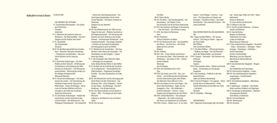 Auszug Inhaltsverzeichnis