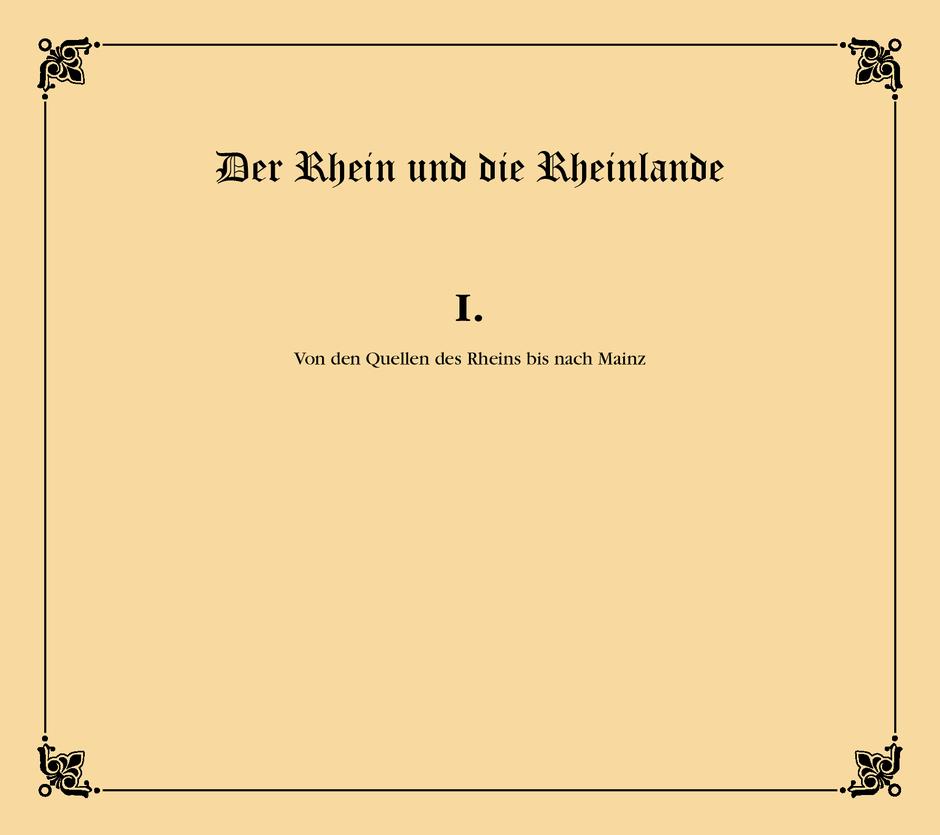 Cover - Der Rhein und die Rheinlande