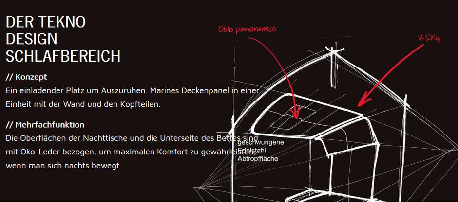 Schlafbereich K-Yacht Tekno Design