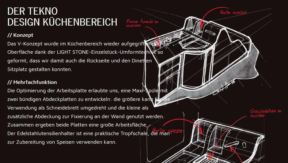 Mobilvetta K-Yacht Tekno Design Küchenbereich