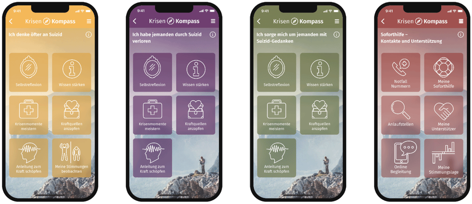 Krisenkompass App der TelefonSeelsorge