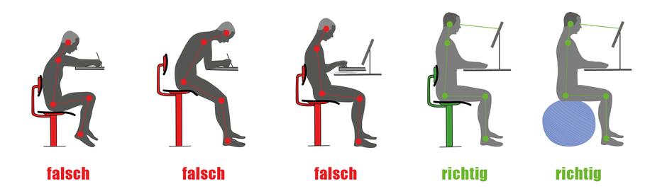 richtig sitzen gesundheit und bewegung im b ro. Black Bedroom Furniture Sets. Home Design Ideas