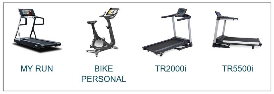 Übersicht Fitnessgeräte - Laufband - TECHNOGYM Geräte - Fahrrad