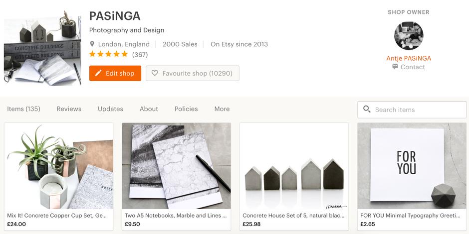 Milestone Capture - PASiNGA reaching 2000 sales on Etsy