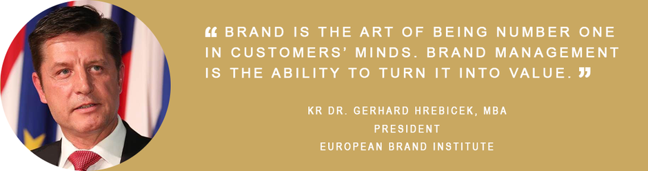 Gerhard Hrebicek, European Brand Institute, Certified Brand, brand management