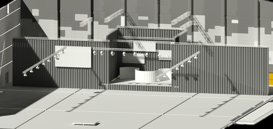 Galaveranstaltung in der Europa-Park Arena - 3D Modell, modelliert mit AutoSTAGE