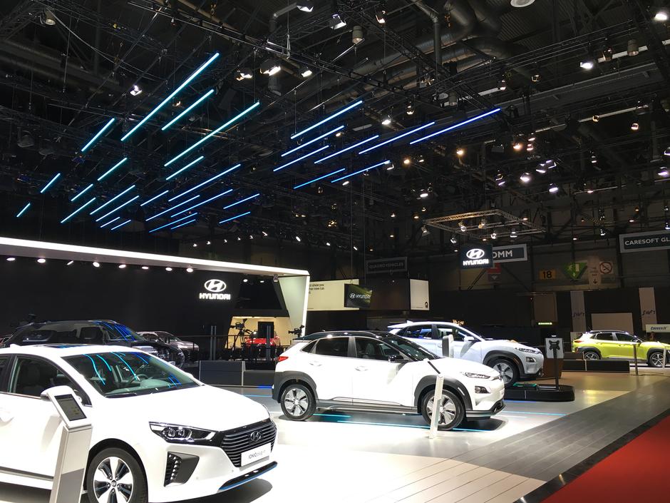 Hyundai Genf Motor Show 2018 - Messestand, geplant mit AutoSTAGE